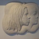 Broer en zus 1, brons gipsmodel